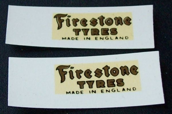 "Dinky Toys 28 Series Type 2 van "" FIRESTONE TYRES "" Gold Transfer Set TRANSFERS / DECALS"